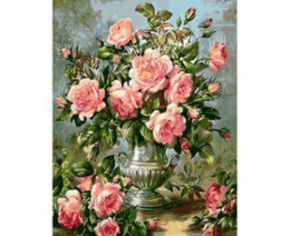 צביעה לפי מספרים- דוגמת פרחים – מספר קטלוג P18